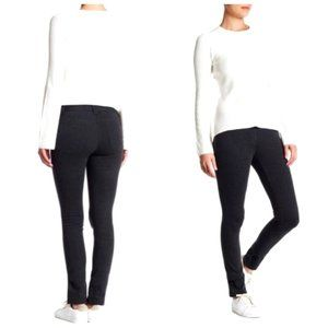 THEORY Charcoal Grey Skinny Pull On Pants